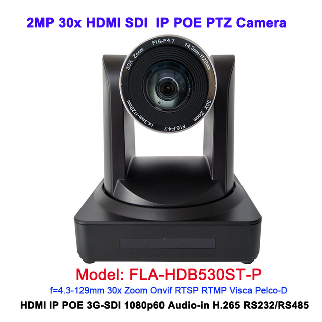 1080P HDMI 3G SDI 60Fps 30X optical zoom HD IP POE Camera for video conferencing
