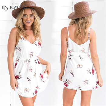 Bikini Cover Up Deep V-neck Beach Cover Ups