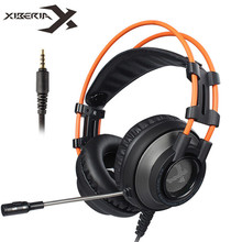 XIBERIA K9 PS4 Gaming Headset Casque PC Gamer Stereo Game Headphones with Microphone for Cell Phone New Xbox One Laptop newst n3 big gaming headset 3 5mm bass computer game headphones with microphone switch casque for pc gamer ps4 xbox phone gaming