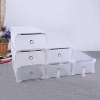 5PCS Shoe Storage Box Case Transparent Plastic PP Storage Box Shoe Organize Drawer Shoe Boxes