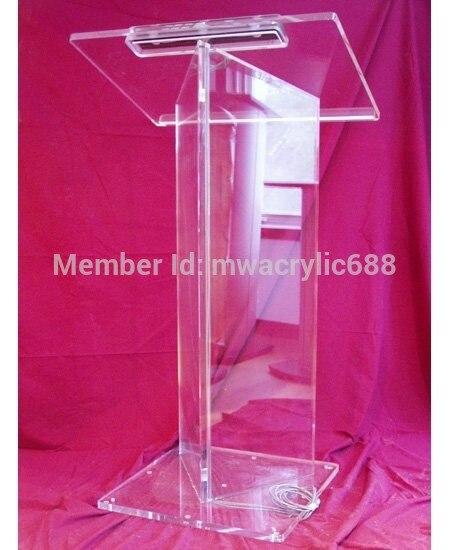 Free Shipping High Quality Price Reasonable Beautiful Acrylic Podium Pulpit Lectern Podium