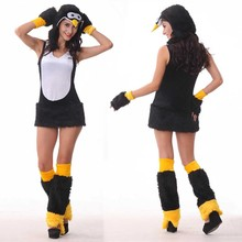 Women's Sexy Penguin Costume Cute Penguin Dress Role Play Furry Costume Women's Plush Animal Costume Fancy Dress One Size(China)