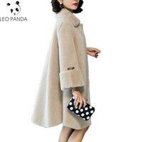 2019 шерстяное пальто Превосходное качество женское натуральное шерстяное пальто женское с длинным рукавом шерстяное пальто зима осень тепл