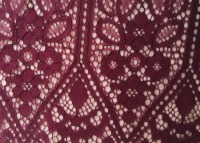 Wine Red Cord Lace Chantilly Eyelash Lace Fabric Bridal Lace Fabric Wedding Decors 150cm 150cm