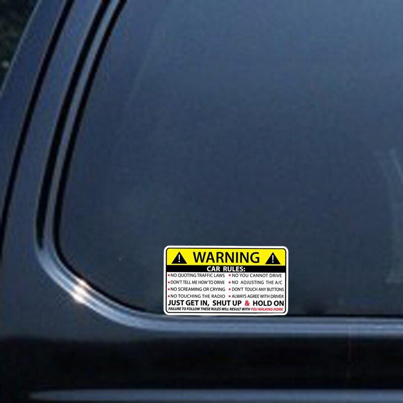 Image 5 - YJZT 2X 10,2 см * 5,7 см Предупреждение правила безопасности наклейка ПВХ автомобильный стикер 12 0585-in Наклейки на автомобиль from Автомобили и мотоциклы