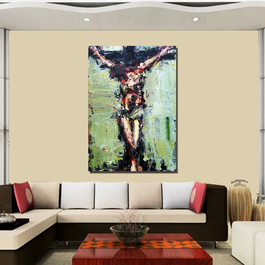 Online buy wholesale jesus oil painting from china jesus oil painting wholesalers - Home decoration wholesale paint ...
