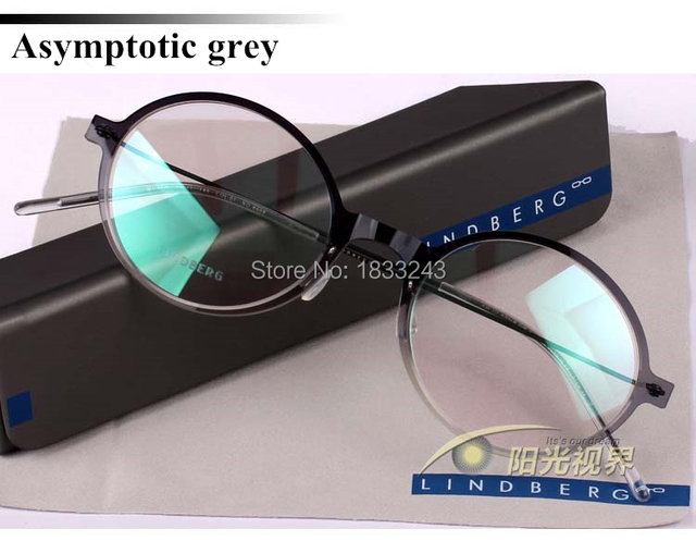 ed26997372977 Free shipping Lindberg glasses frames of mirror spectacle nylon ultrasound light  Eyeglasses for men Round box frames