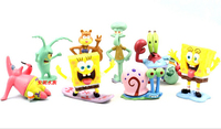 Aquarium Landscaping SpongeBob 8pcs Set Aquarium Fish Tank Decoration Aquarium Free Shipping