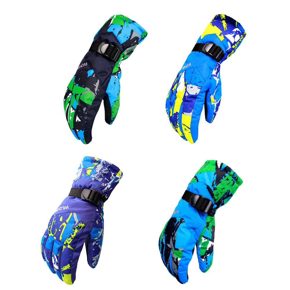 Camouflage Men Ski Gloves Snowboard Gloves Snowmobile Motorcycle Riding Winter Gloves Windproof Waterproof Snow GlovesJIRE84