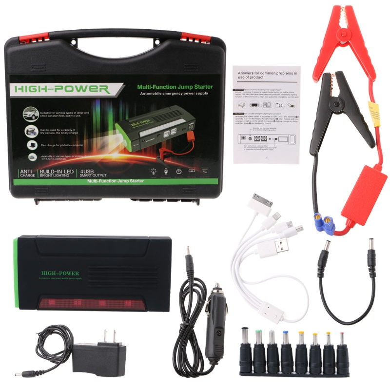 цена на car styling 68000mAh Battery Charger Portable Mini Car Jump Starter Booster Power Bank For 12V Car