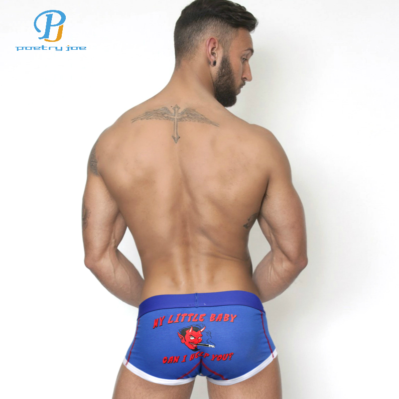 PINK HEROES Men Underwear Boxer Cartoon Printed Cotton Boxer Men Underwear Brand Manufacturers Men Shorts Panties Gay Cuecas