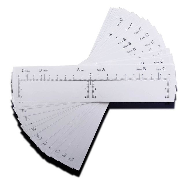 50 pieces High Arch Microblading Eyebrow Stencils Stickers Permanent Makeup Supplies Eyebrow Mold Template Drawing Guide 3