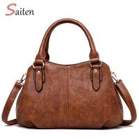 Saiten Handbags Women's PU Leather Fashionable New Style Women's Bags 2019, PU Leather Messenger Bag, One Shoulder Handbag