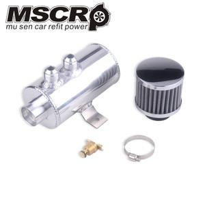 Image 2 - Universel aluminium noir 10AN moteur brossé déflecteur huile attraper boîte Kit réservoir 750ML W/reniflard filtre Kit cylindre 2 Port avant