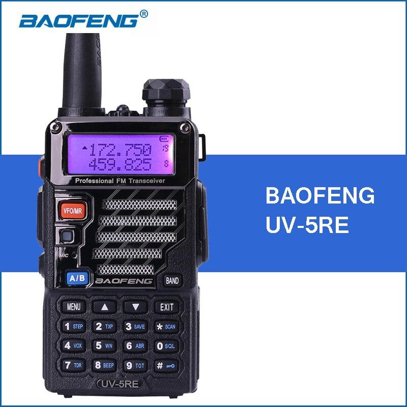 imágenes para Baofeng uv-5re uv-5r versión mejorada portátil walkie talkie vhf uhf fm transmisor-receptor walkie talkies radio de dos vías comunicador