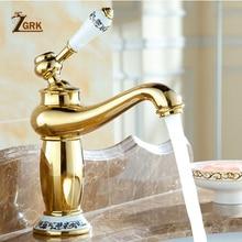 ZGRK Vintage baño de latón tipo tetera lavabo grifo antiguo fregadero de cobre grifo monomando caliente y fría SLT0521