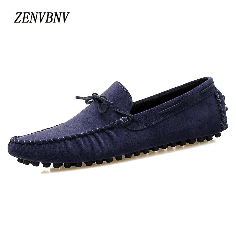 ZENVBNV Novos Sapatos Casuais Primavera Outono Homens Mocassins Deslizamento Em 2017 Motoristas Moda Preguiçoso Sapatos Mocassins Homens de Couro Artificial