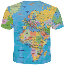 YFFUSHI 2019 Cool Male 3d Tshirts World Map Print T Shirts Men shirt Summer Tops Hip Hop Tees Casual Streetwear 5xl