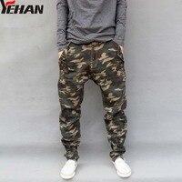 Casual Military Outdoors Emoji Jogger Men Pants Camo Harem Pants Male Plus Size Pants Taper Loose