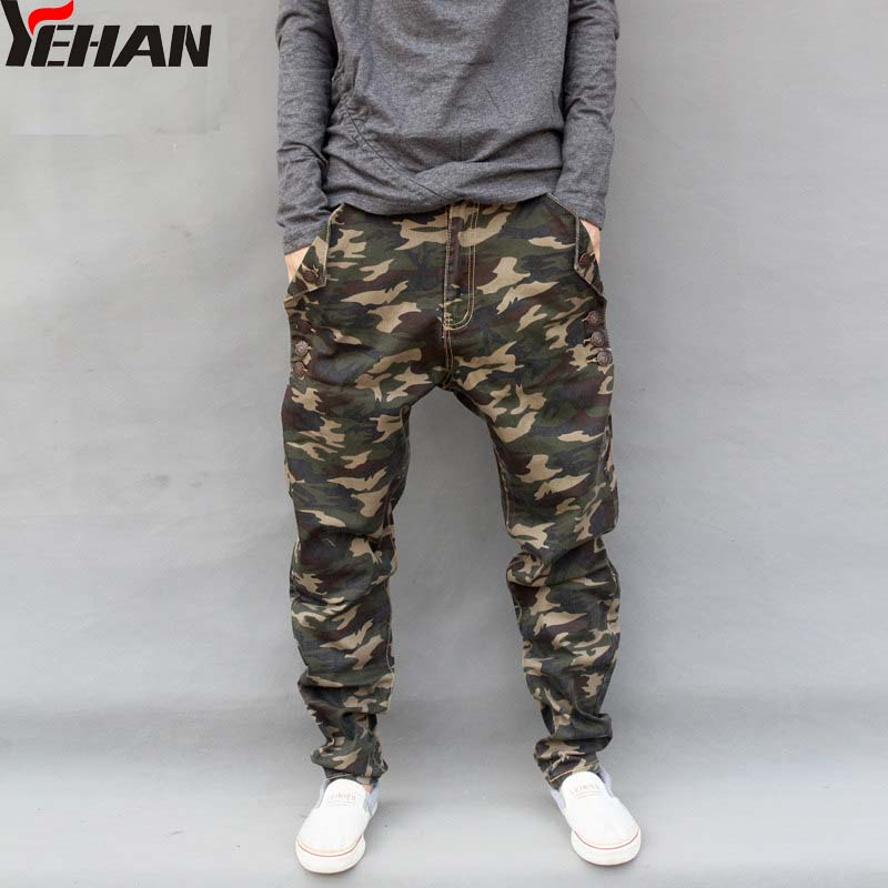 Mænds Militære Camouflage Harem Jeans Bomuld Plus Størrelse Hip - Herretøj - Foto 1