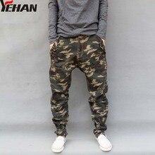 Men's Military Camouflage Harem Jeans Cotton Plus Size Hip Hop Pant Men Baggy Cargo Pants Loose Mens Joggers Trousers M-6XL