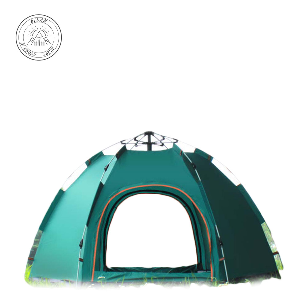 Family travel Necessary Full automatic tent outdoor 3-5 people big hexagonal tent camping camp rain protection camp rain stop baby