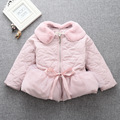 Children 's clothes 2016 Korean  doll collar Lace girl cotton jacket winter thicken coat age from 2-7T