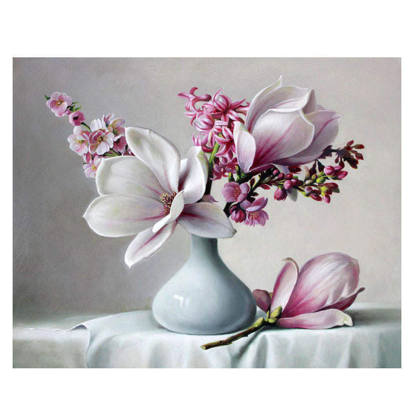 Coloring By Numbers Diy Painting By Numbers Decorative Picture Elegant Flower Pictures By Numbers in Painting Calligraphy from Home Garden