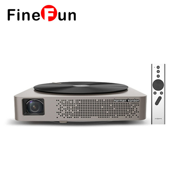 FineFun Z4 Aurora DLP 4K Projector 3D Android 4.3 Dual WIFI 2 HDMI Full HD Projector 1080p Home Cinema for Portable Projector