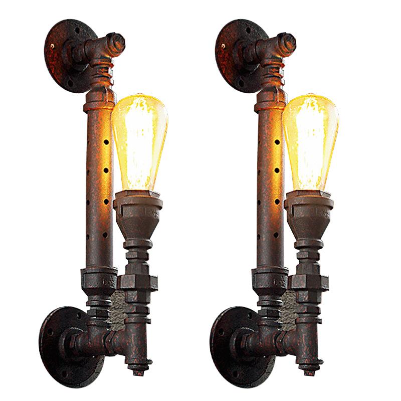 Industrie Edison Lampe Eisen Rost Wasser Rohr Retro Wandleuchte Vintage E27 Lichter Fr Wohnzimmer Schlafzimmer