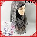 G 16 de encaje de flores wrap hijab, bufanda viscosa, chal, 10 unids 1 lote, 180*90 cm, puede elegir los colores