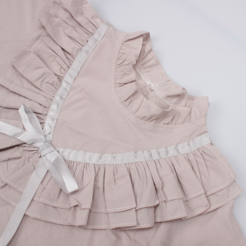 45-11-baby girl ruffles Solid blouses