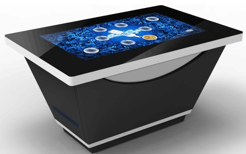 42 46 55inch White TFT LCD HD Coffee Table/ Tea Table/map Club Query Desk Digital Game Music All In One Pc Kiosk  Signage