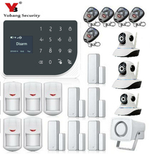 YoBang Security WIFI GSM Alarm System Touch Keyboard APP Control Wireless IP Camera 433MHZ Home Thief/GPRS/SMS Alarm System.
