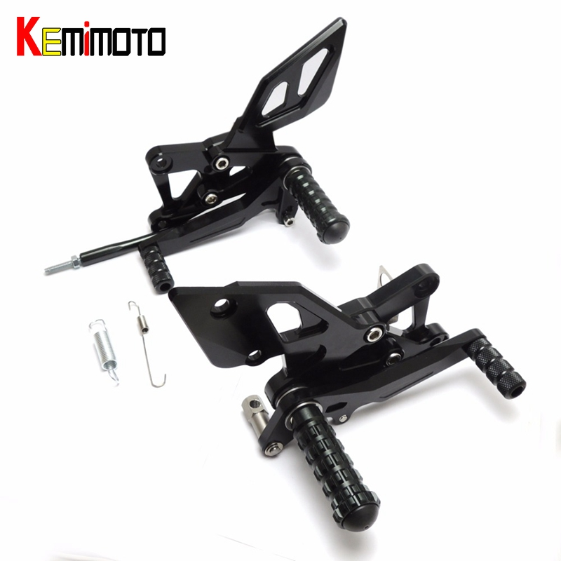 KEMiMOTO Foot Rests For YAMAHA YZF R3 R25 MT-03 MT-25 2014-2016 CNC Adjustable Rearsets Foot Pegs Rest Rear Set Black Blue Red for yamaha mt09 fz09 xsr900 cnc adjustable rearset foot rest foot pegs mt fz 09 2013 2018 xsr900 2016 2017 foot rests