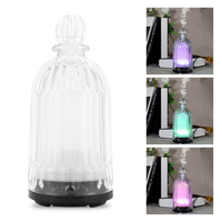 FIMEI Electric 120ml Ultrasonic Air Humidifier Aromatherapy Glass Lamp Aroma Essential Oil Diffuser Umidificador LED Night