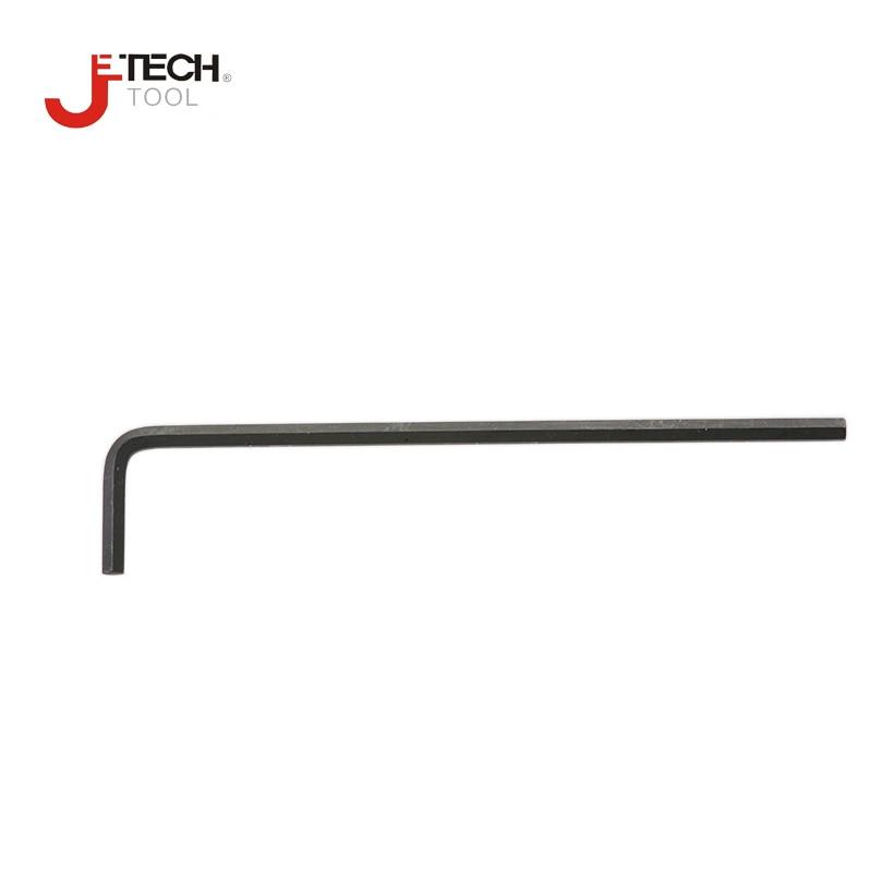 Jetech mini petit standard à extrémité plate hexagonale allen clés 1.5mm 2.0mm 2.5mm 3mm 4mm 5mm 6mm 8mm 10mm alliage acier S2 noir l-key-1 PC