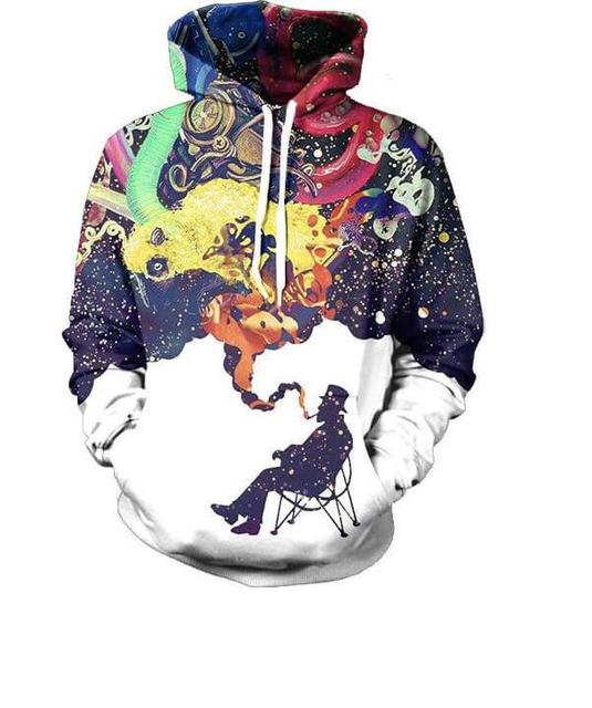 2017 New men/women clothing sweatshirts printed  graphic 3d Pullover funny  mens tops hoodies