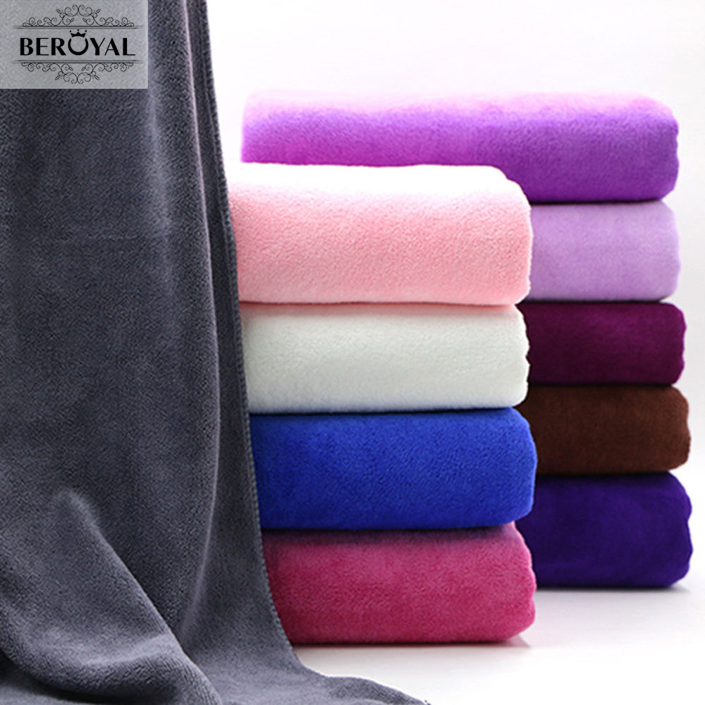 Beroyal Brand Microfiber Bath Towels for Adults 80*180cm Super Absorbent Body Bathroom Towels Large Luxury Summer Beach Towel