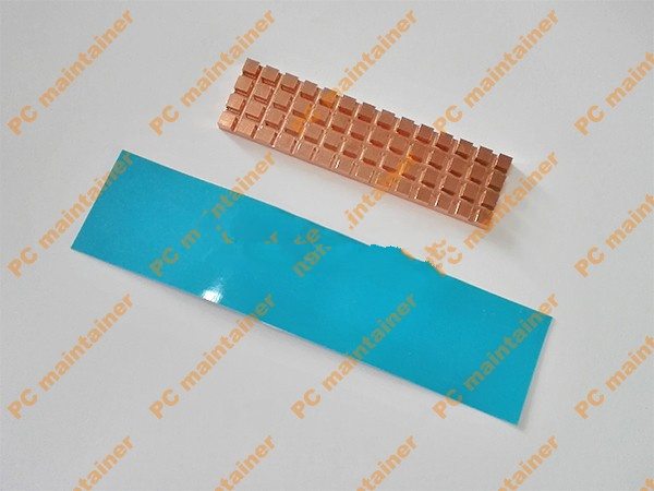 67mmX20mmX4mm Pure Copper Heatsink for M.2 NGFF 2280 PCI-E NVME SSD with fan 4.0mm Thermally Conductive Adhesive Heatsink Cool
