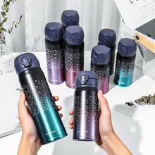 2019 New Stainless Steel Thermal Insulation Vacuum Flasks Starry sky Thermal Insulation Straight Thermoses Portable Dropshipping lakme straight thermal protector