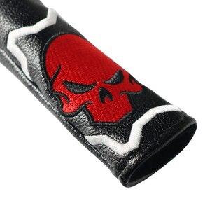 Image 3 - Craftsman Golf hecho a mano Alineación de cuero Stick cubierta negro y rojo cráneo Alta Calidad nuevo diseño
