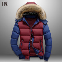 LBL Winter Bomber Jassen Heren Parka Jas Waterdicht Uitloper Mens Oversized Jassen Mode Fitness Kleding Jaquetas Masculina 2018(China)
