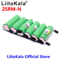 2018 liitokala 18650 2500 mah bateria recarregável 3.6 v inr18650 25r m 20a descarga + níquel diy|liitokala 18650|liitokala battery|lithium battery -