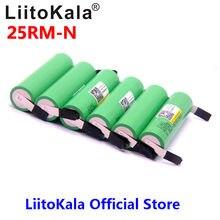 LiitoKala 18650 2500 мАч аккумуляторная батарея 3,6 В INR18650 25R M 20A разряд + DIY никель