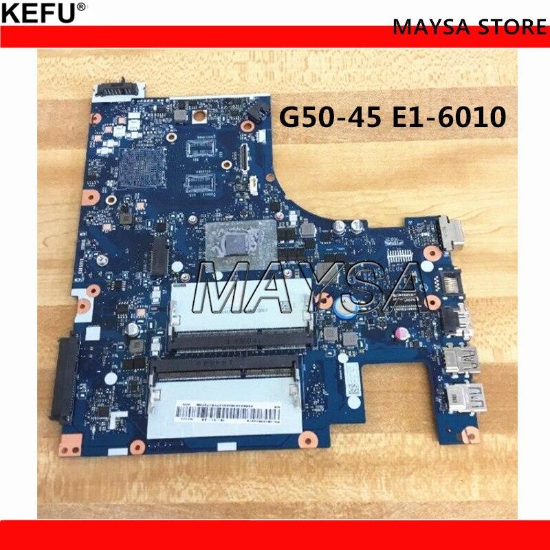 Nouveau ACLU5/ACLU6 NM-A281 REV: 1.0 Carte Mère Pour Lenovo G50-45 carte mère avec E1-6010 à bord CPU DDR3 100% testé