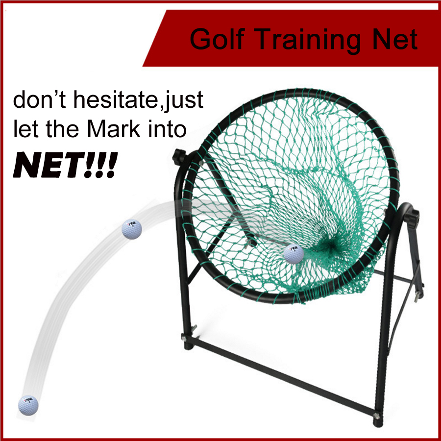 free shipping high quality adjustable golf chipping net steel frame practice mat practice net golf training cages