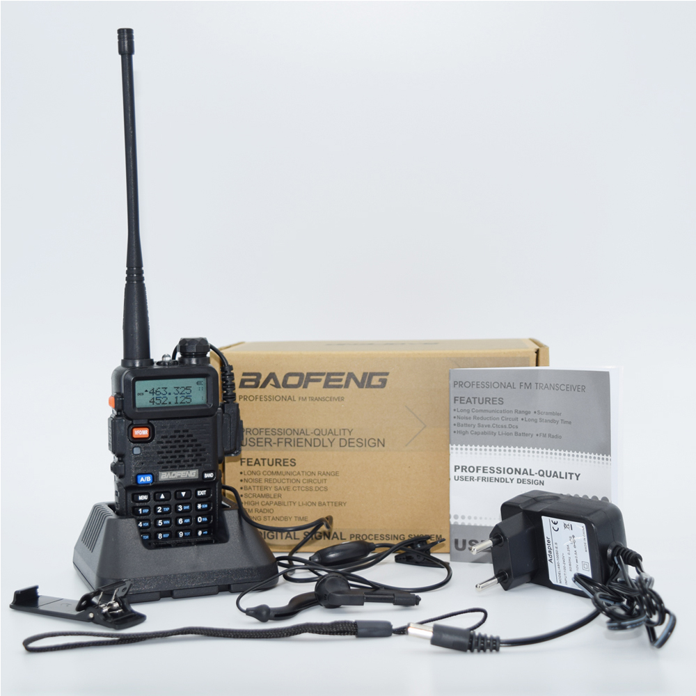 2 шт. baofeng уф-5r Walkie Talkie рации 128 Dual Band UHF& VHF 136-174 МГц и 400-520 МГц Baofeng УФ-5R портативна Рация 5 Вт Двухстороннее радио для рации рация баофенг uv-5r