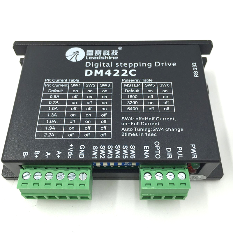 Leadshine DM422C digital 2ph Stepper Drive 0.5~2.2A 18~40VDC Good for  Matching 39mm NEMA15 42mm NEMA17 motor   with cable step motor drive from famous brand leadshine model dm422c 2 phase digital stepper drive max 40 vdc and 2 2 a quick delivery