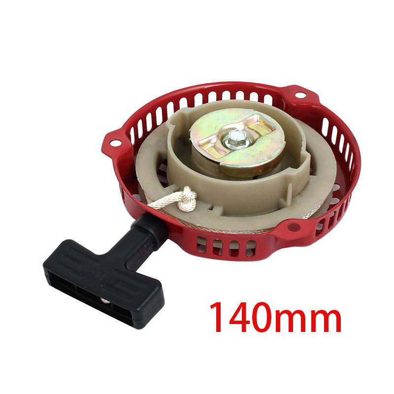 152F Plastic Handle 3 Holes Recoil Pull Starter Assembly Generators Parts Accessories For The Broken Recoil Starter 140 x 30mm recoil starter assembly for zenoah gw26i g260 26cc rc boat g290 g300 g320 pu pum puh pull starter assy komatsu part